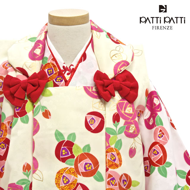 人気ブランドパティパティの子供被布コート着物セット