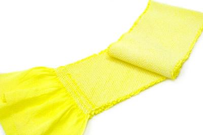 七五三,帯揚げ,蛍光黄色,七歳用,鹿の子絞り,子供用,正絹