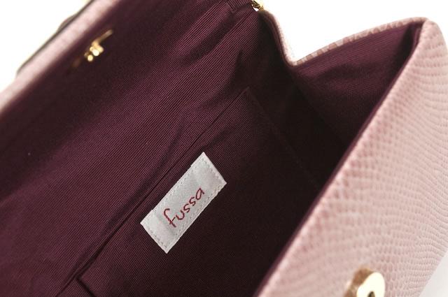 人気着物スタイリストfussaのリボンクラッチバッグ