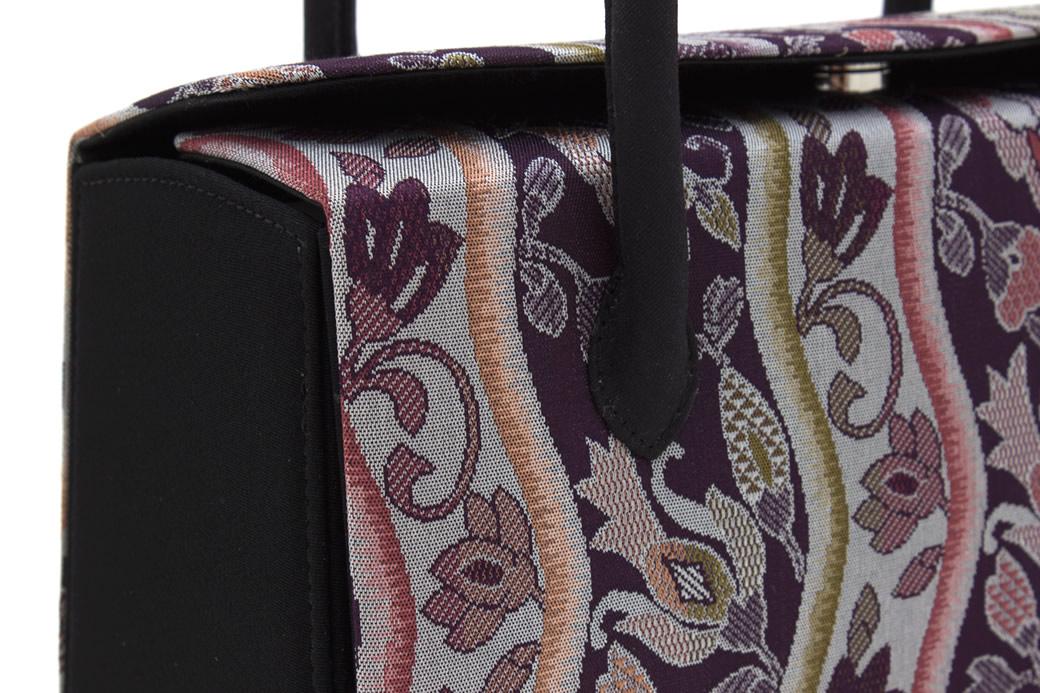 正絹帯生地のカジュアル向き高級草履バッグセット