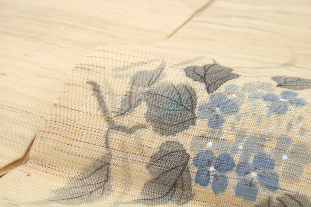 シンプルで上品なデザインの本麻九寸名古屋帯