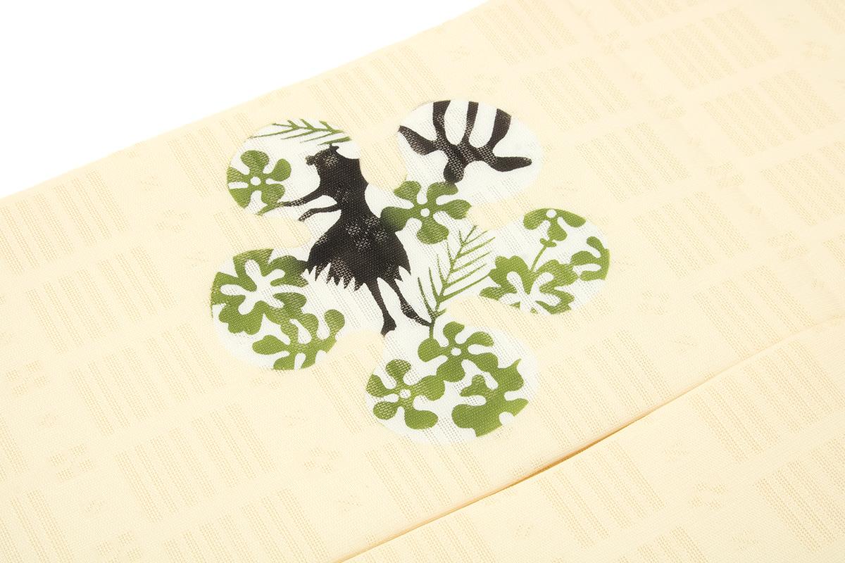 シンプルで上品なデザインの正絹九寸名古屋帯