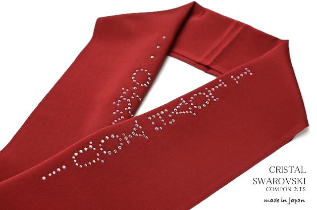 スワロフスキー社製クリスタルダイヤを贅沢に使用した刺繍半襟