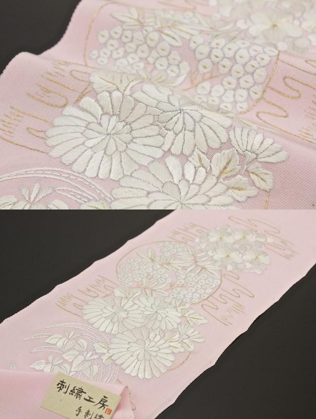 振袖や婚礼用に…ふっくら手刺繍高級半襟