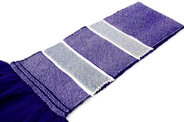 帯揚,帯揚げ,正絹,総絞り,着物,成人式,振袖,紫,縞