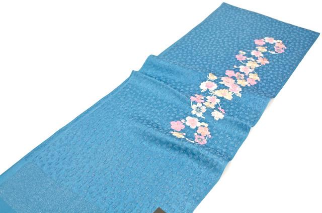 ハート地模様の刺繍振袖向け帯揚げc