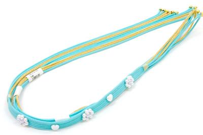 成人式帯締め振袖水色帯締め振袖用帯締め全体
