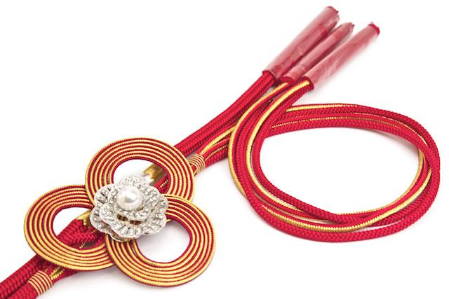 金属糸使用組紐の振袖向け帯締め