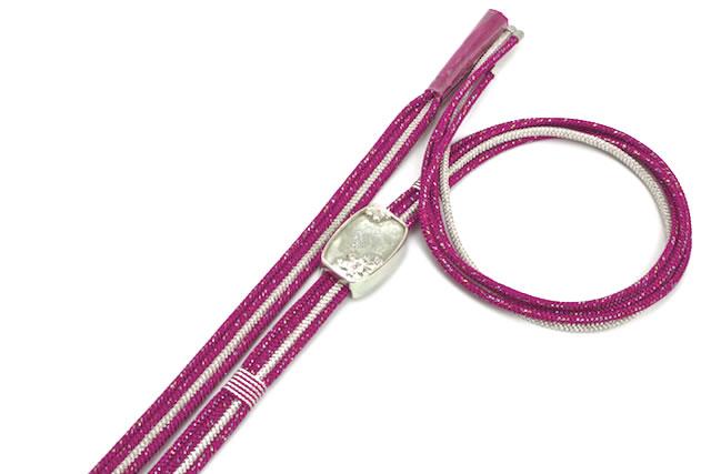 螺鈿帯留めのついた帯締め