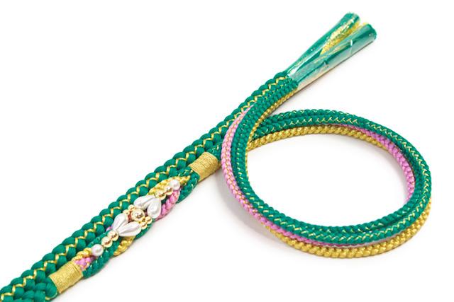 金属糸使用のフォーマル向け正絹帯締め
