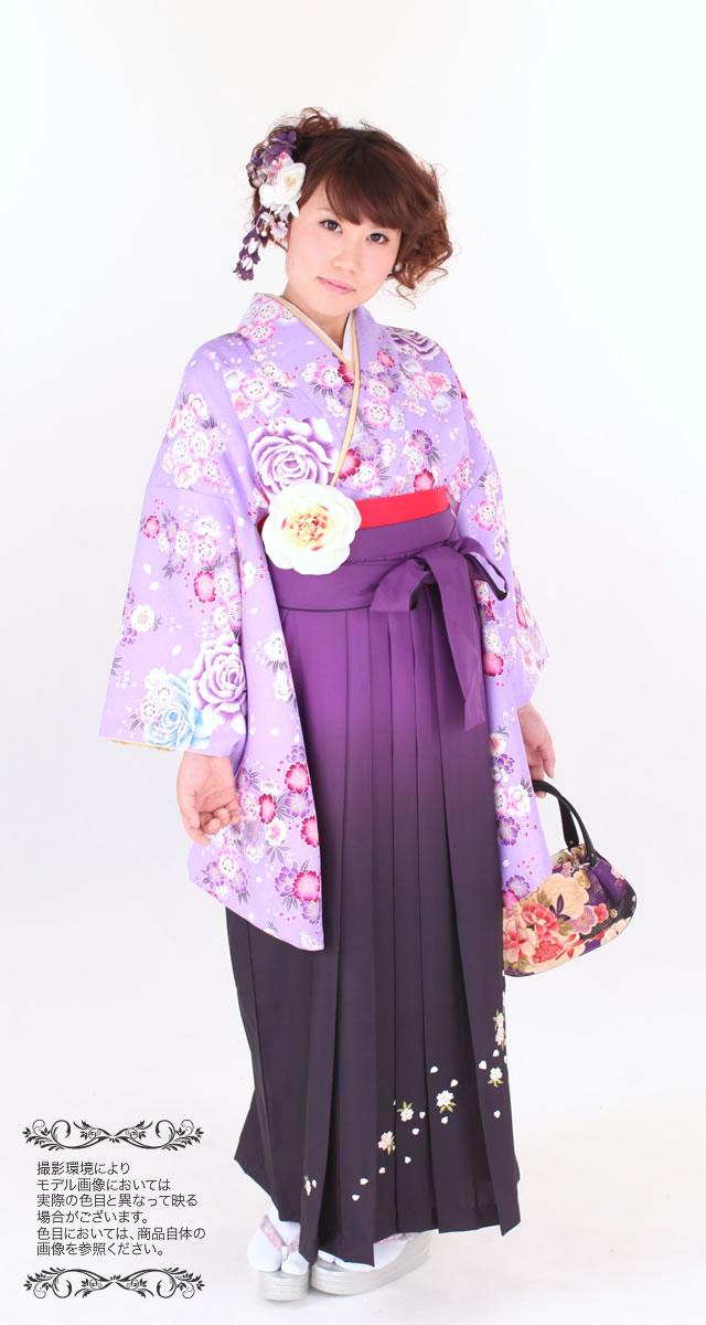 桜柄の二尺袖着物の袴セット