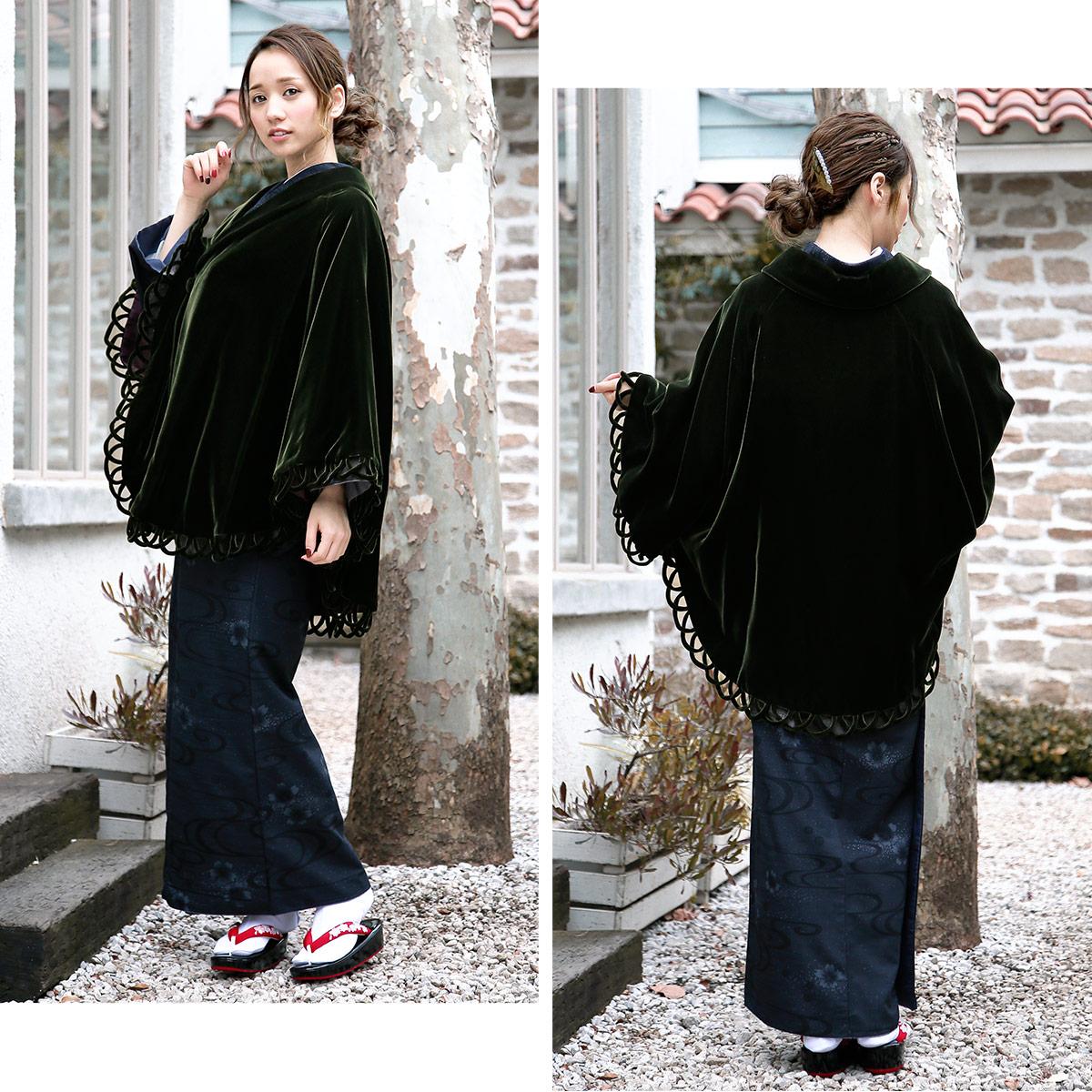 寒い冬を温かく☆色留袖や訪問着向け着物ケープ