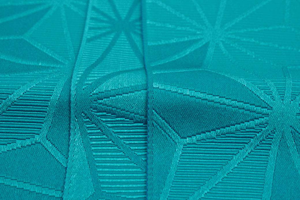 麻の葉模様のシンプル単衣細帯