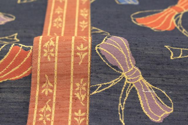 西陣織工業組合証紙No.2419『芳彩織』高級レディース半巾帯