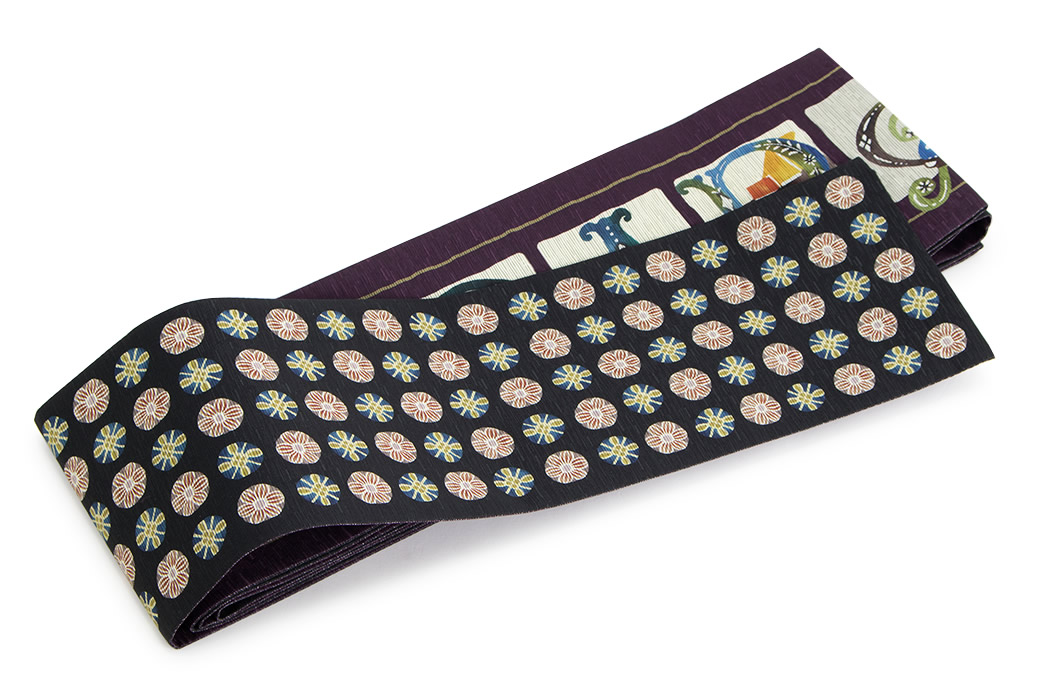 大人の女性に人気の『召しませ花』の半幅帯
