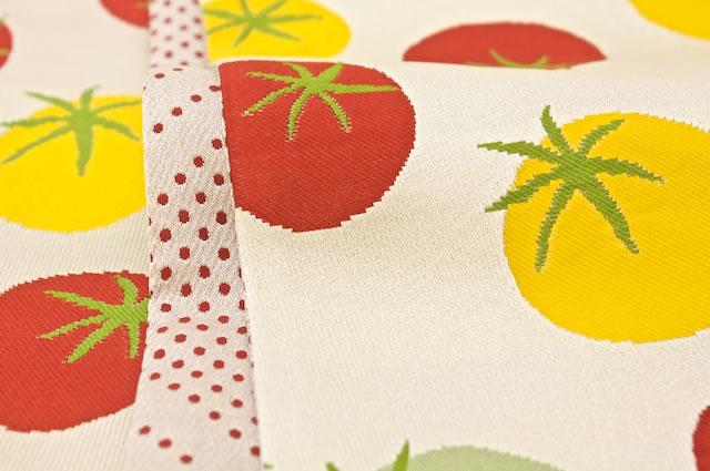 トマト柄・水玉柄の半幅帯