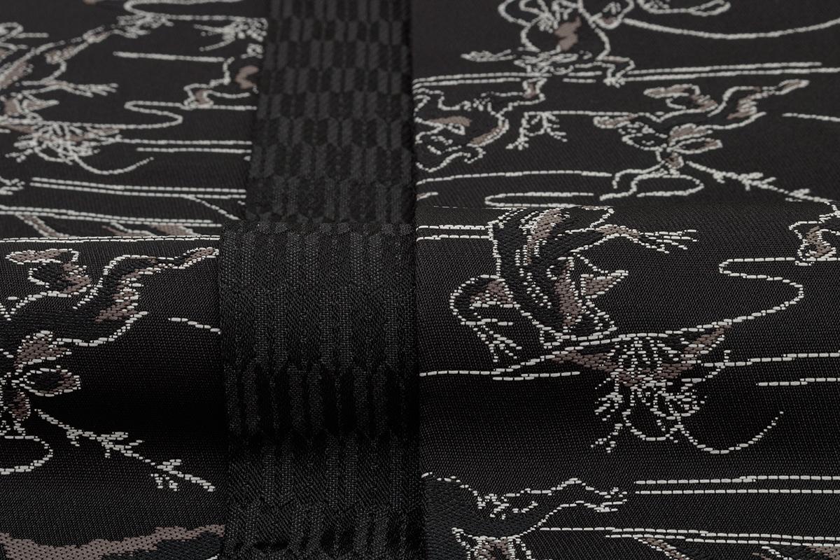 人気の高い鳥獣戯画デザインの半巾帯