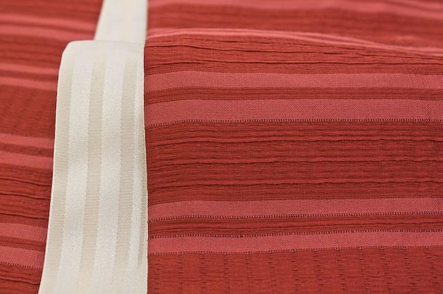 縞柄のしじら織り半幅帯