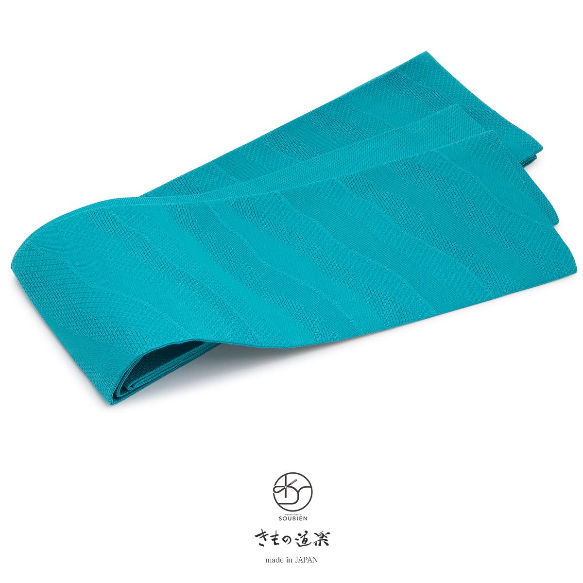 緑,浴衣にオススメなブランド「きもの道楽」の麻絹の半幅帯