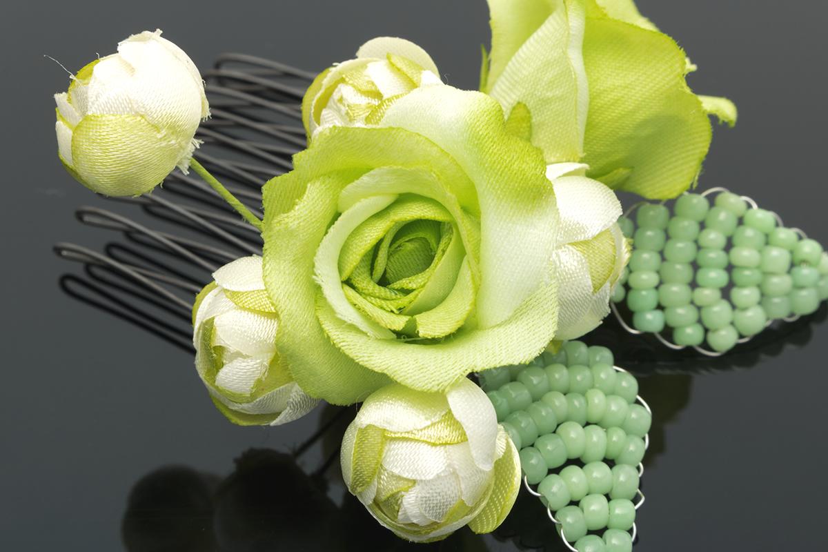 緑系髪飾り