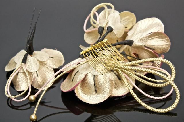 髪飾り2点セット成人式振袖卒業式袴はかま結婚式和柄ピンク花かんざしヘアアクセ簪袴着物ドレスパーティふりそで髪かざり