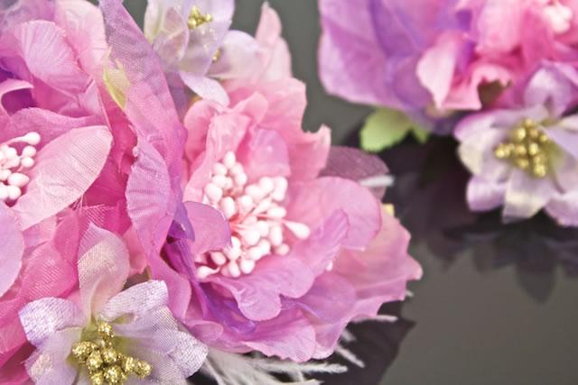 ゴージャスなお花の髪飾りセット