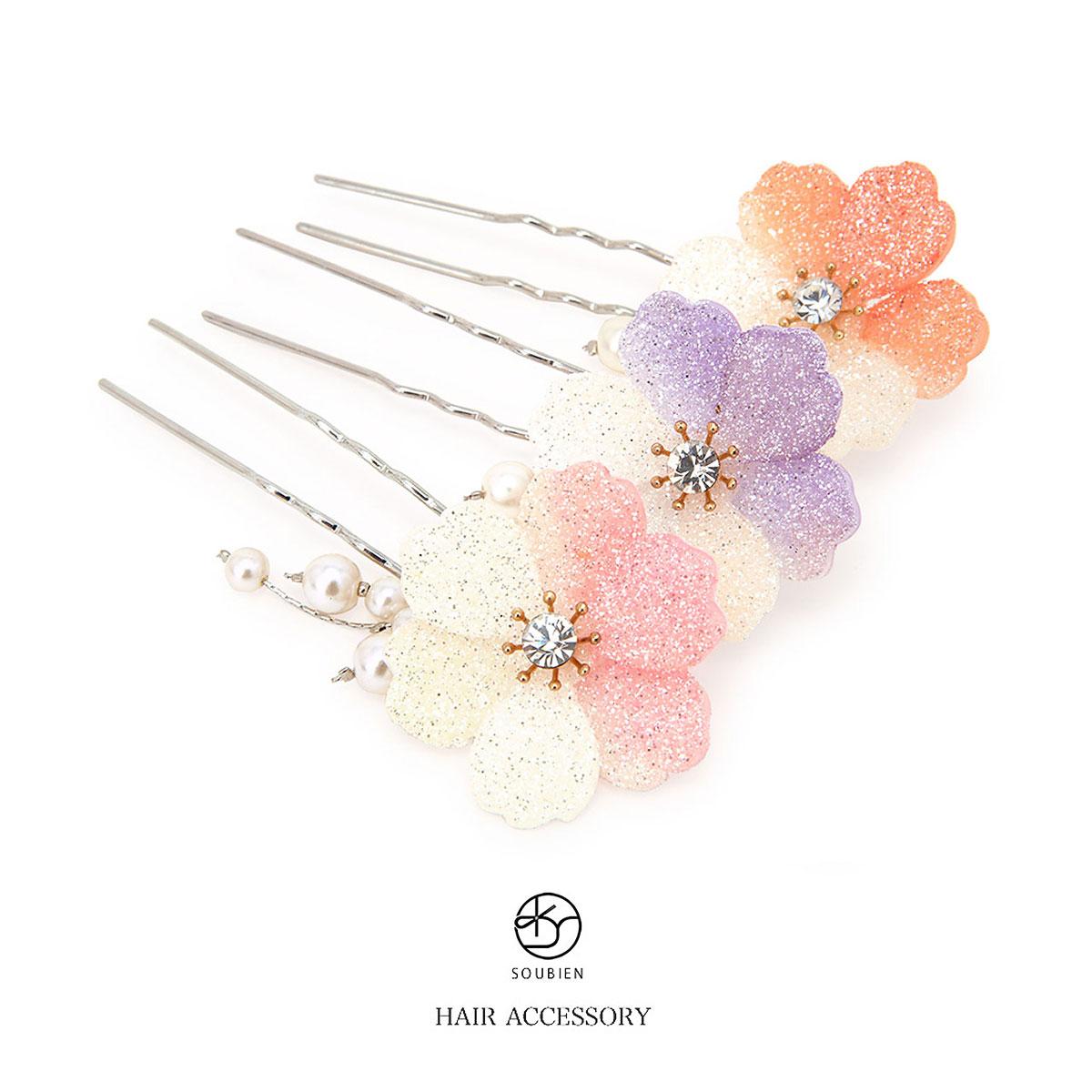 全3タイプの桜モチーフ簪(かんざし)