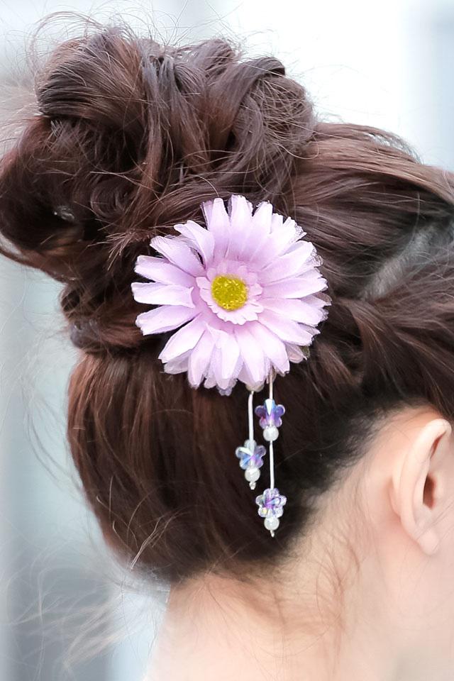 夏の浴衣におすすめなブラ付髪飾り