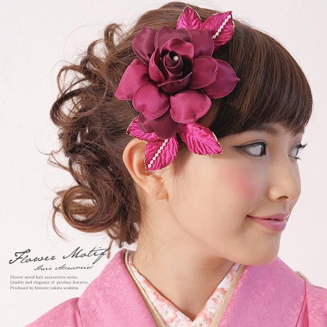 成人式におすすめなお花の髪飾り