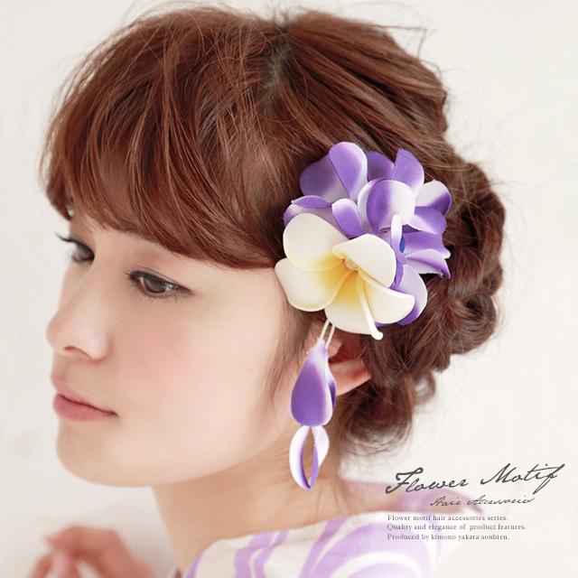 着物姿にプラスワン☆彩り豊かな花の髪飾り