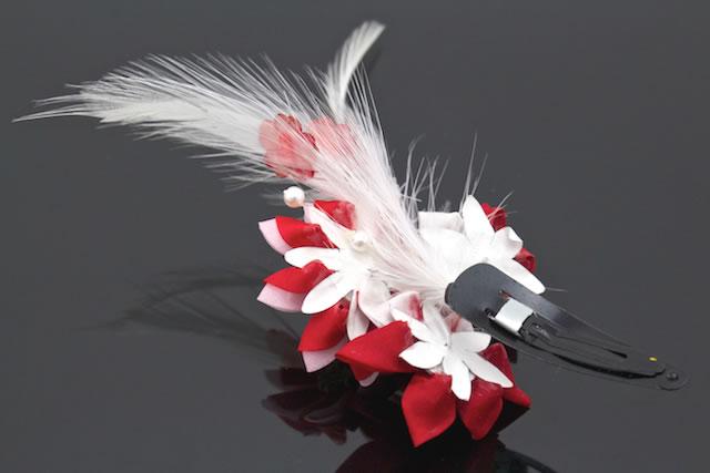 成人式や卒業式の振袖にも☆つまみ細工の花の髪飾り