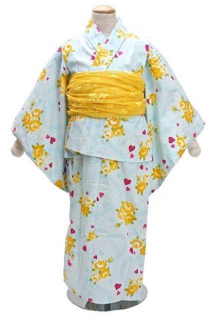 綿100%で市松の変わり織りが施された浴衣