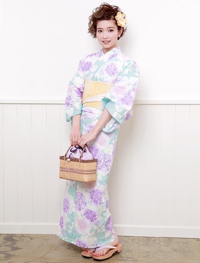 『デビュー・ド・フィオレ』手縫い・手染め・綿麻素材のレディース浴衣