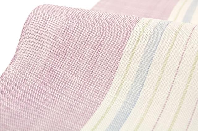 【※未仕立て】珍しい京都西陣織麻八寸名古屋帯