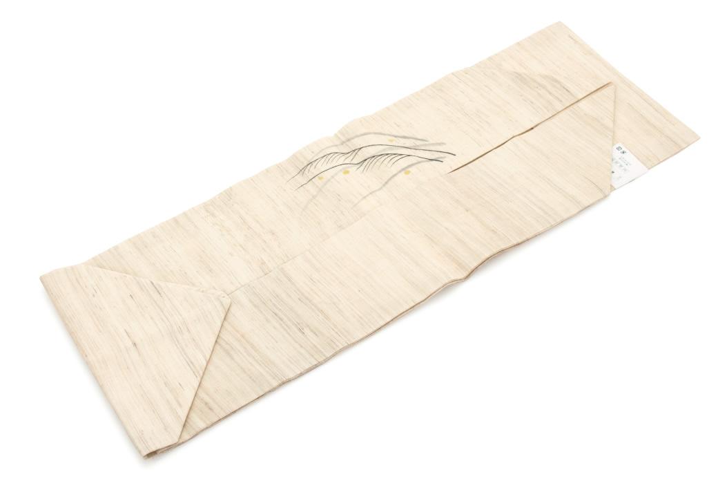 シンプルで上品なデザインの麻の九寸名古屋帯