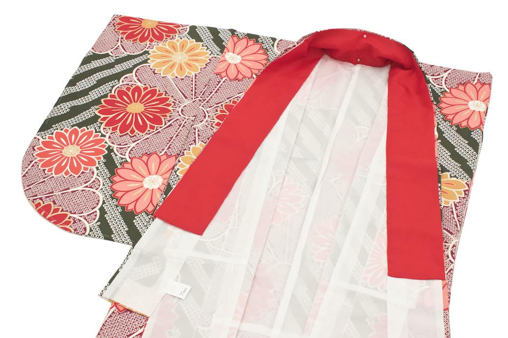 袴にお似合いな二尺袖着物