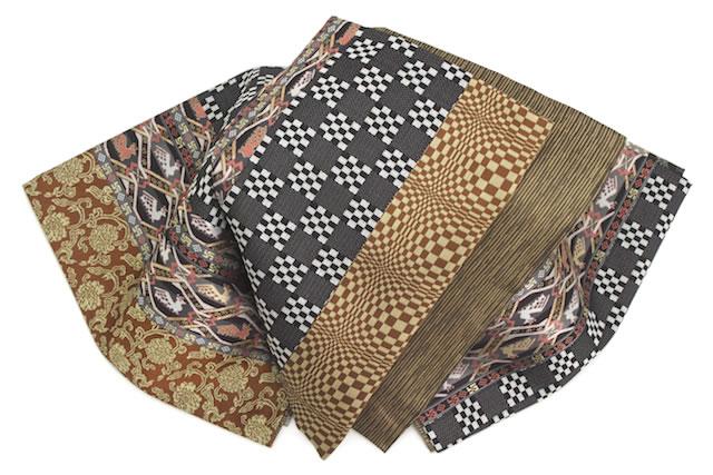小紋や紬などカジュアルな着物にも合う袋帯