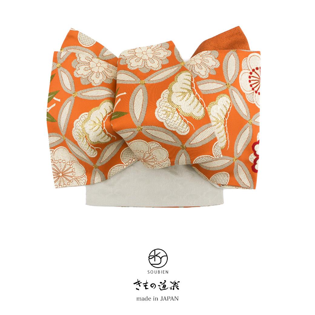 女性の着物を彩るブランド高級袋帯