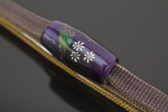 五嶋紐×鎌倉玻璃工房帯留のセット