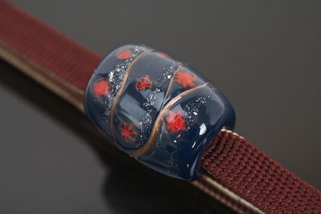五嶋紐×佐竹ガラス帯留のセット