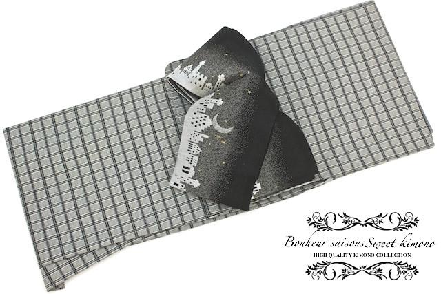 ボヌールセゾンのプレタ袷着物