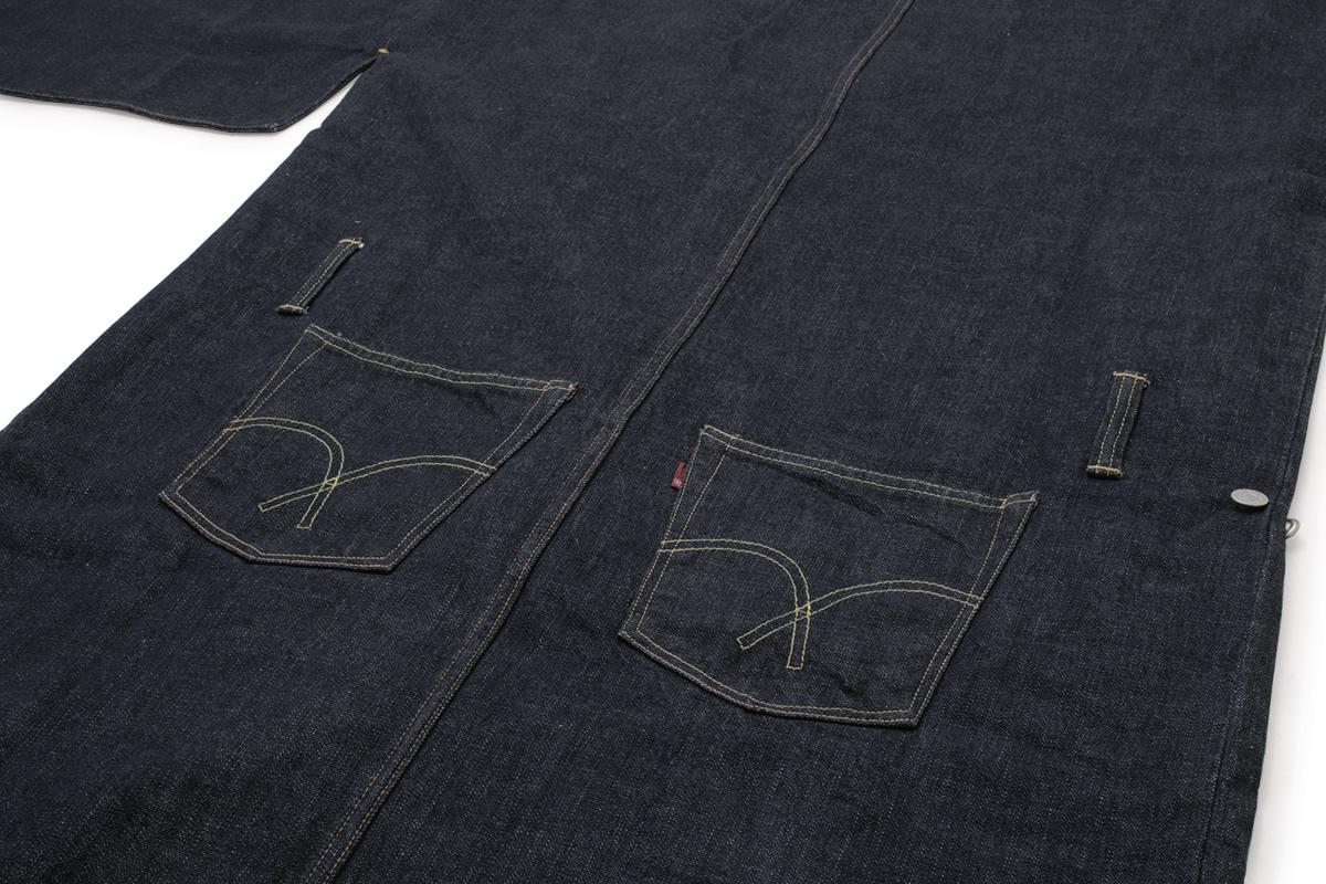 ジーンズ生地を使った男性用着物