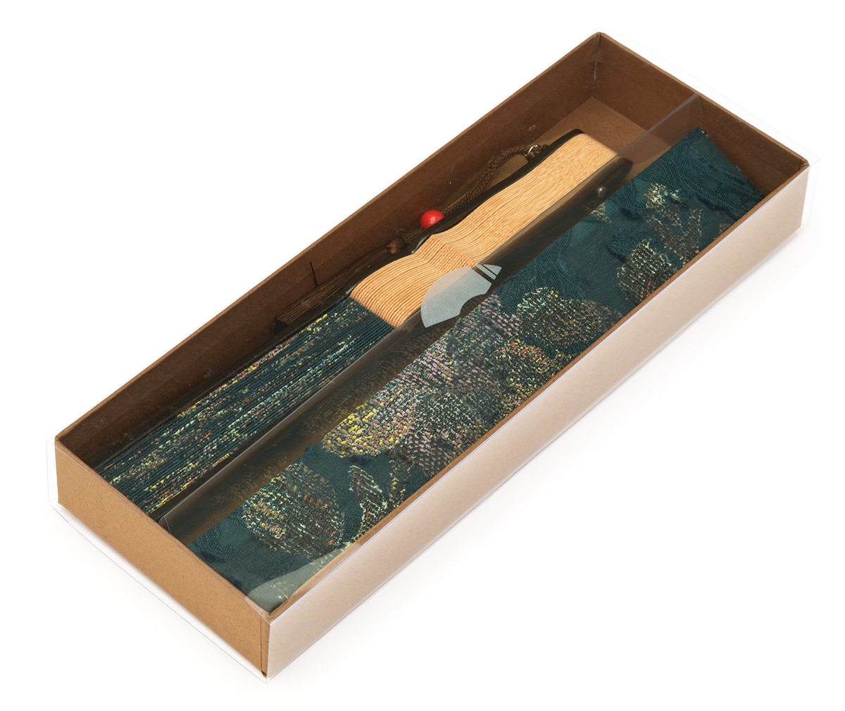 オパール加工の扇子
