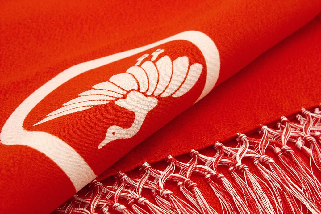 晴れの日の着物スタイルにおすすめな正絹の志古貴(しごき)