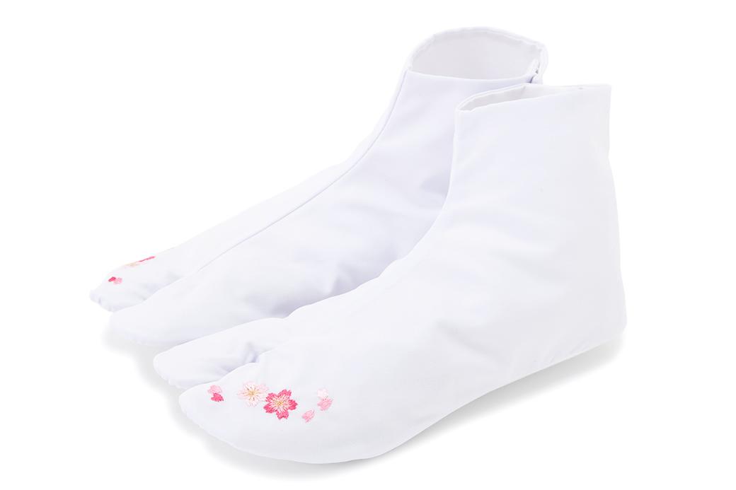 刺繍足袋,白足袋,成人式用,振袖用,結婚式用,婚礼用,袴用全体