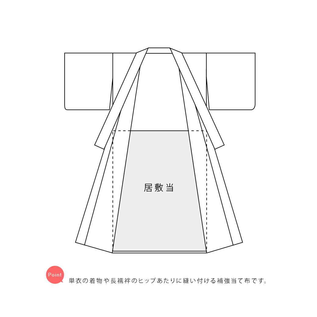 単衣着物や長襦袢による透け防止におすすめな居敷当