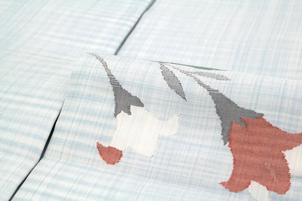 【訳あり】オシャレで結びやすい正絹九寸名古屋帯