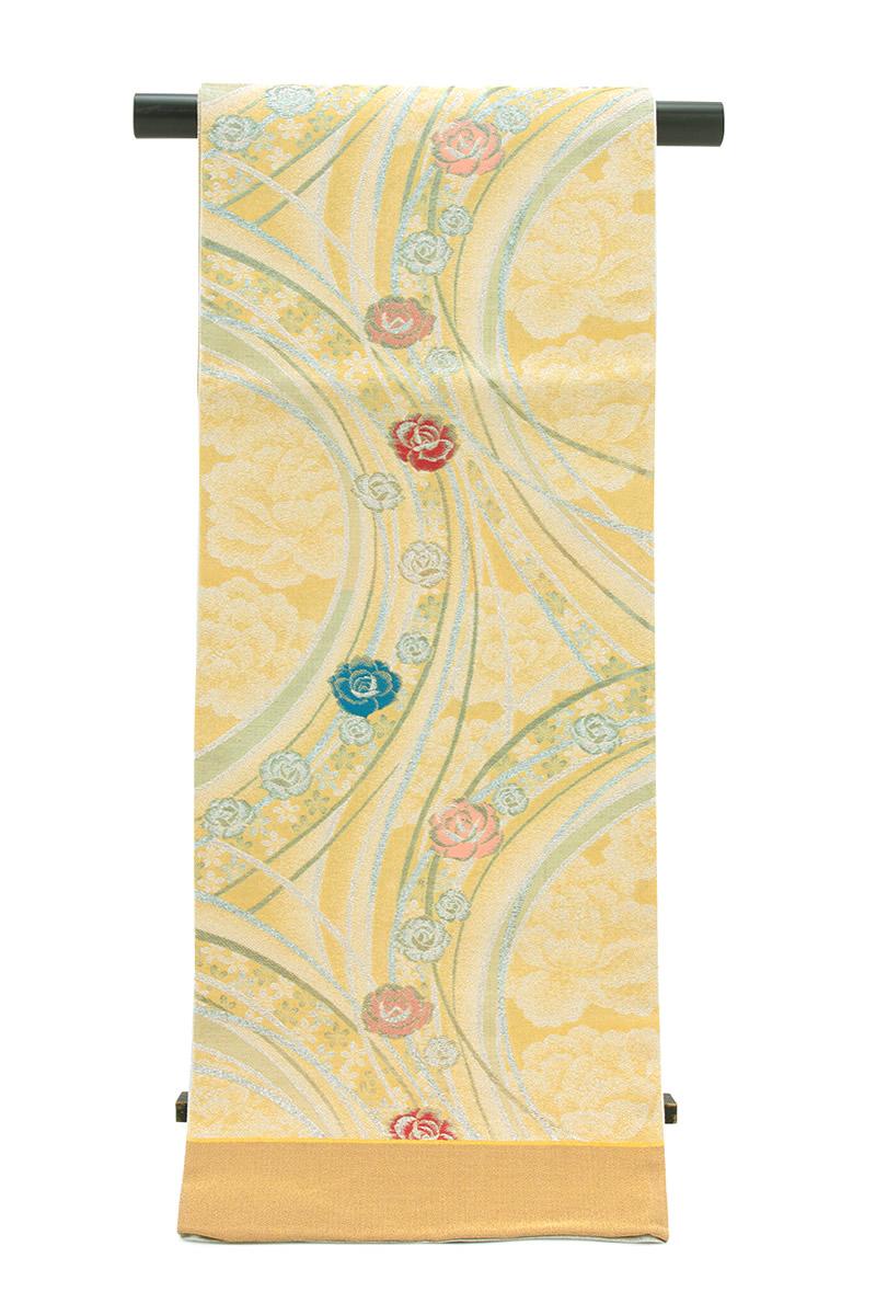 【訳あり】絹の風合いに上品さが漂う西陣織の高級袋帯