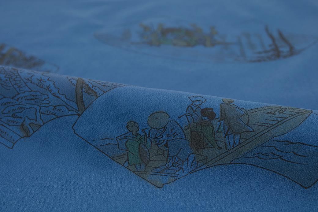 着物の袖元を彩るメンズの替袖