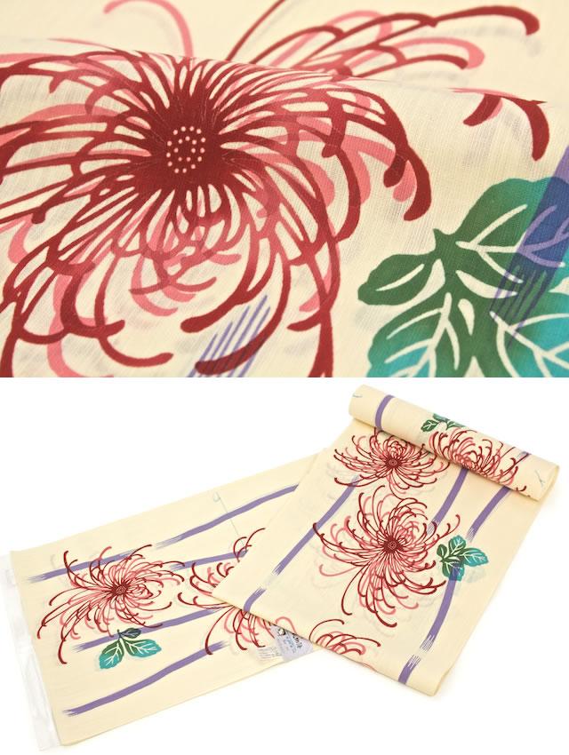 【※未仕立て】源氏物語の「麻と綿の布」レディース浴衣